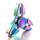 Uspeedy 2 PCS 4 Sides and 3 Sides Rainbow Crab Fidget Spinner Fidget Killing Time Toys for For ADD, ADHD, Anxiety, and Autism Adult and Children (0 0 0 2PCS Rainbow+ Rainbow)