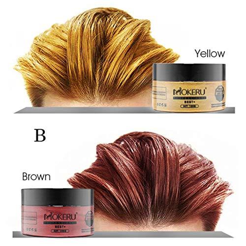 Hair dye,SUPPION Unisex Hair Wax Color Washable Temporary Dye Styling Cream Mud - Cosplay/Party/Costume/Carnival/Masquerade (B) (Best Diy Hair Dye Australia)