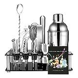 Best Bartender Kits - 17-Piece Bartender Kit Cocktail Shaker Set, Stainless Steel Review