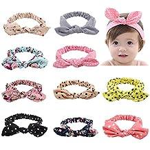 Itaar Baby Girls Headbands Set Turban Knotted Hairband for Newborn Toddler Girls 12Pcs