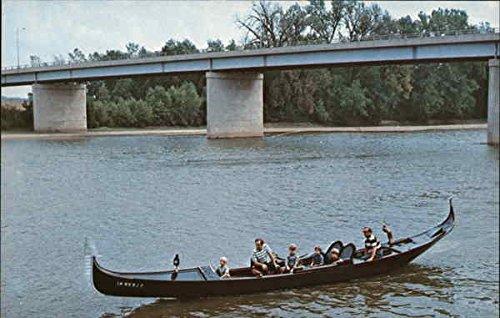 (Clinton Jaycee's Venetian Gondola Clinton, Indiana Original Vintage Postcard)