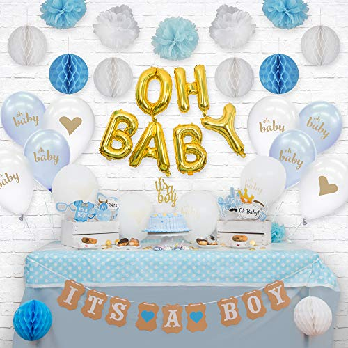 68-Piece Boy Baby Shower Decorations by Sweet Serenity |
