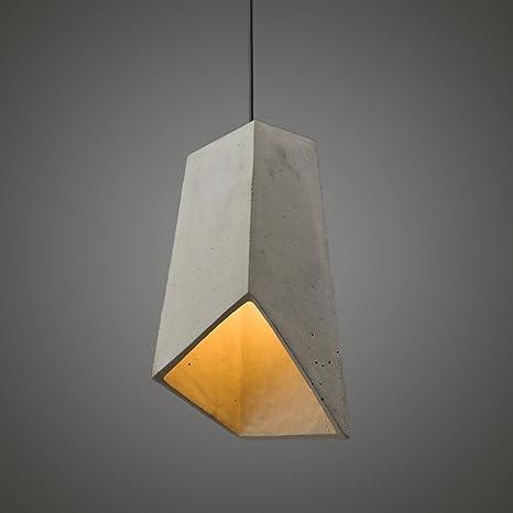 ZMH Lámpara Colgante De Comedor Lámpara Colgante Vintage E27 Concreto Altura Ajustable Lámpara De Suspensión Diseño Geométrico Lámpara De Techo Para ...