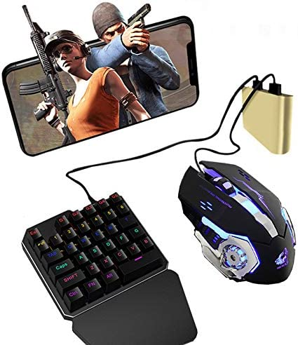 Alician PUBG Mobile Phone Game Controller Mouse Keyboard Battledock Converter