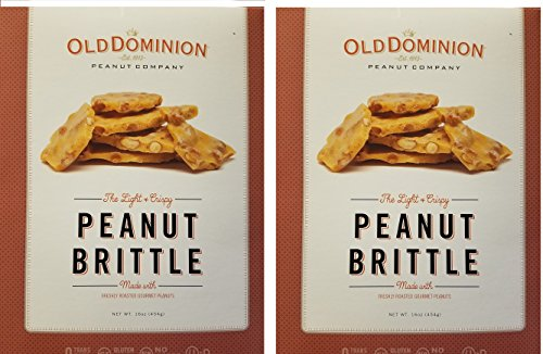 Old Dominion Old-Fashioned Peanut Brittle (2 Pack ) 16 Oz each (Sweet Peanut Brittle)