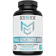 Magnesium Glycinate 450 mg - Mag Complex Supplement Formulated for Calm, High Absorption, Muscle Relax and Gentle Digestion, Vegan, Non-GMO, Gluten-Free, Soy Free, Bioavailable, 180 Tablets