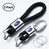 Hey Kaulor 2Pack Genuine Leather Car Logo Keychain for Subaru Key Chain Accessories Keyring with Logo: more info
