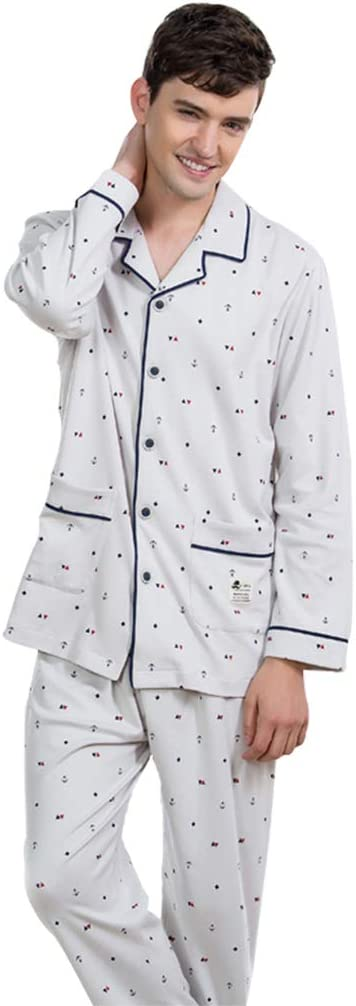 Pijamas Hombre Ropa de Dormir Gris Claro Hombre algodón para ...