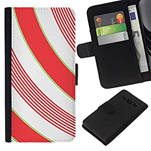 KLONGSHOP // Tirón de la caja Cartera de cuero con ranuras para tarjetas - Líneas blanca minimalista Girly - Samsung Galaxy A3 //
