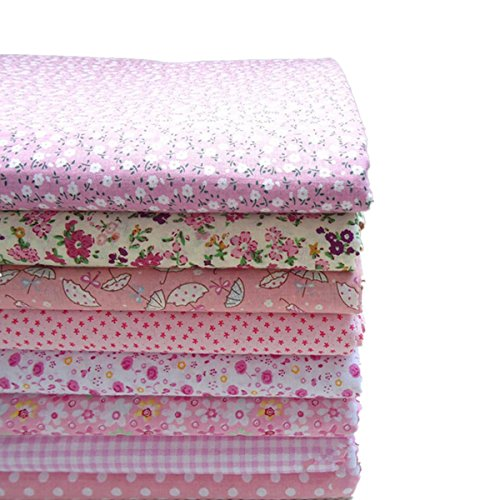 kingso-8pcs-cotton-fabric-bundles-quilting-sewing-patchwork-cloths-diy-craft-197x197inch-pink-series