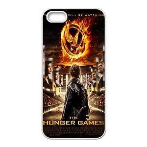 The Hunger Games funda iPhone 4 4S Cubierta blanca del teléfono celular de la cubierta del caso funda EVAXLKNBC15504