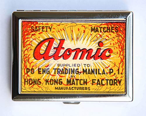 Atomic Safety Match Cigarette Case Wallet Business Card Holder