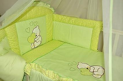 6 Pcs Baby Bedding Set//Bumper To Fit Cot Bed 140 x 70cm, BLUE