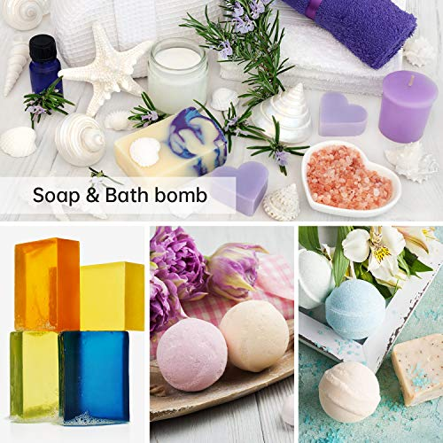 Epoxy Resin Pigment, MENNYO Epoxy Resin Soap Dye Colourant 20 Colors (10ml, Total 200ml), Natural Pigments Epoxy Liquid Resin for Soap Making, Bath Bomb, Candle, Slime, Resin Art, Jewelry Making