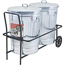 New Behren`s Tcc Coated Dual 250lb Capacity Dual Trash Garbage Can Cart Caddy