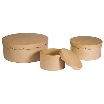 Juego de Cajas, FSC Recycled, Papel maché, marrón, 24