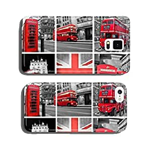 London photos collage, selective color cell phone cover case Samsung S5
