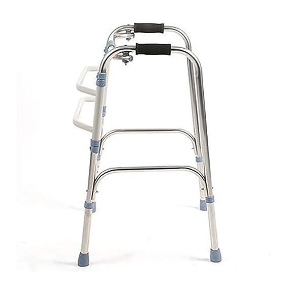 QETU Andador Plegable discapacitado, Ajustable, portátil, Ligero ...
