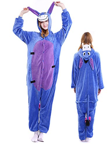 Eeyore Onesie Adult Animal Pajamas Kigurumi Costume Halloween Xmas Sleepwear by vavalad