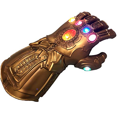 BengPro Infinity War PVC Light Up Gloves Electronic Fist Halloween Cosplay Props (Light Up Glove - A - http://coolthings.us