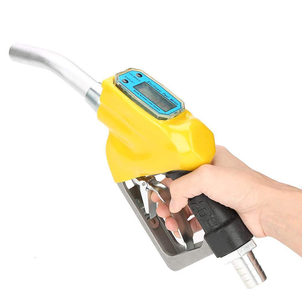 FTVOGUE Boquilla de Pistola de Aceite Alimentaci/ón Digital Pistola Pulverizadora Boquilla de Suministro Combustible Medidor Flujo para Combustible Diesel Queroseno Gasolina