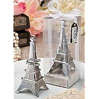 1 x torre Eiffel torre cromada anillo de metal