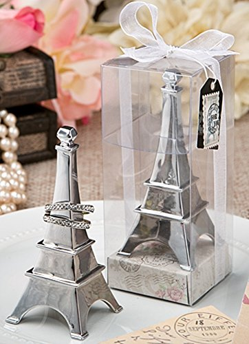 1 X Eiffel Tower Chrome Metal Ring Holder (Ring Tower Eiffel)