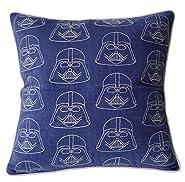 "DecorHouzz Darth Vader Starwars Embroidered Pillow Cases Cushion Cover Teen Children Standard Decorative Gift Birthday Kids 18""x18"""