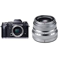 Fujifilm X-T1 16 MP Mirrorless Digital Camera with 3.0-Inch LCD (Body Only) (Graphite Silver & Weather Resistant) w/ XF35mm F2 Silver Lens