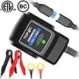 TOPAC 12 Volt 1.25A Automatic Car Battery Charger and Maintainer for Automotive, Motorcycle, Boat & Marine, RV, Toys, Power Tool, Lawn & Garden Battery Systems