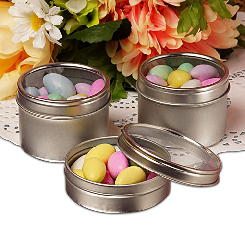 Window Steel Tin Can 8oz | Quantity: 288 by Paper Mart