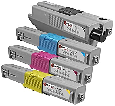 Laser Tek Services Compatible Toner Cartridge Replacement for the Oki C310 and Oki C510. (Black, Cyan, Magenta, Yellow)