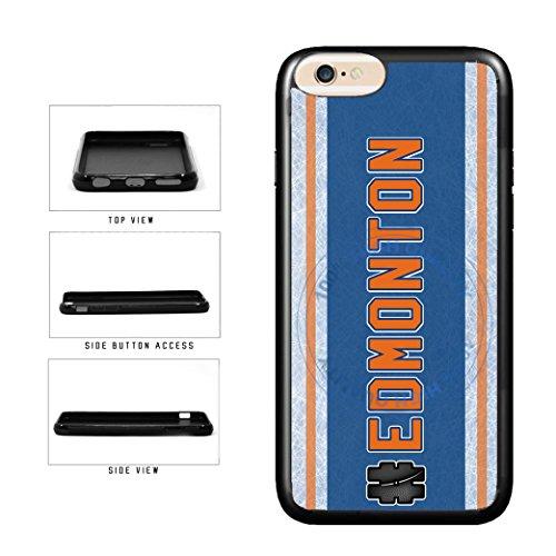 (BleuReign(TM) Hockey Team Hashtag Edmonton #Edmonton TPU RUBBER SILICONE Phone Case Back Cover For Apple iPhone 8 and iPhone 7)