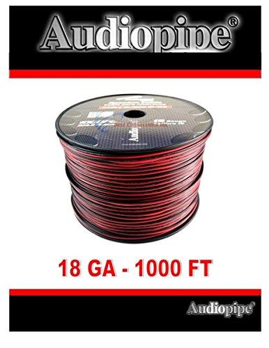 Audiopipe CABLE18BLACK SPEAKER CABLE 18 GA. 1000' AUDIOPIPE; RED + BLACK