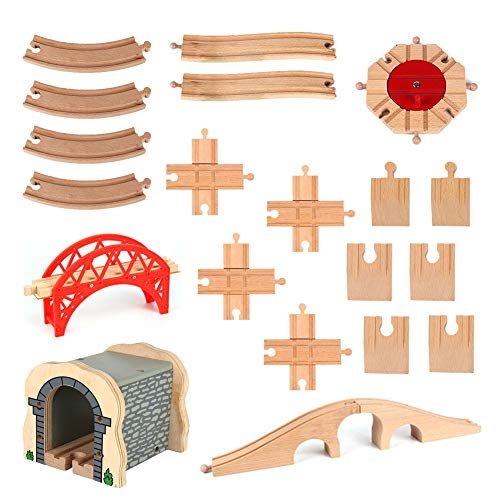 Ytzada 20PCS Wooden Railway Train Track Connectors for sale  Delivered anywhere in USA