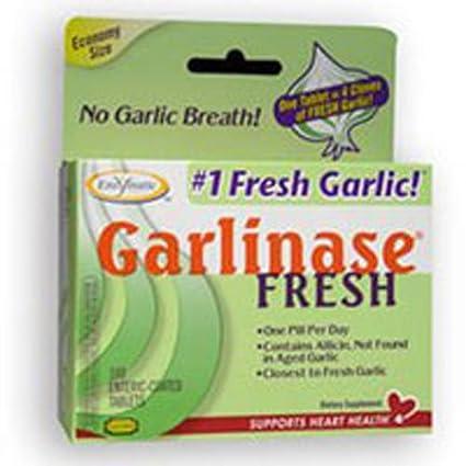 Garlinase fresca, 100 comprimidos con cubierta entérica - Terapia enzimática