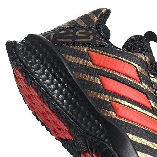 adidas Rapidaturf Messi K, Zapatillas de Deporte Unisex Adulto Negro (Negbas / Rojsol / Ormetr 000)