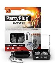 Alpine PartyPlug Oordoppen voor feesten, muziek, festivals, disco en concerten - Voorkomt gehoorschade - Hoge muziekkwaliteit + sleutelhanger - Hypoallergeen materiaal - Herbruikbaar - Transparant