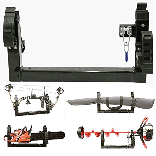 All Season Multi-Purpose 3-PLACE Carrier Rack Holder ATV Snowmobile UTV Mount For Metal or Composite Rack (For METAL RACK)
