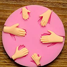 FVIEW 3D Silicone 6pcs Palm Cake Mold Fondant Chocolate Mould