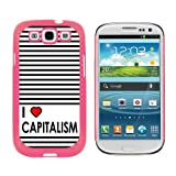 img - for Graphics and More I Love Heart Capitalism - Snap On Hard Protective Case for Samsung Galaxy S3 - Pink book / textbook / text book