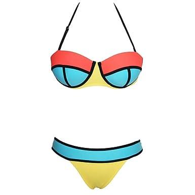 d2a760e63520f Vollter Bademode Frauen Neopren Bikinis Sexy Badeanzug Bad-Klage ...