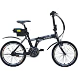 Anbike EBIC H520 Mid/Crank Motor Drive Folding Electric Bicycle, Full Auto, Assist Mode, Black, 20-inch