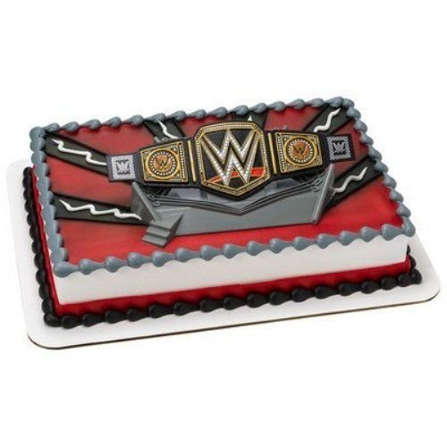 CakeDrake World WRESTLING BELT WWE John Cena Randy Orton The Miz Cake Decor Topper Kit W by CakeDrake