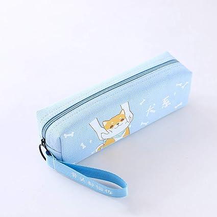 XuBa - Estuche cuadrado de lona con cinta para guardar artículos de papelería, color Dog system: Amazon.es: Oficina y papelería