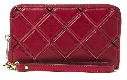 MICHAEL Michael Kors Jet Set Travel Diamond Quilt Leather Large Flat Phone Case