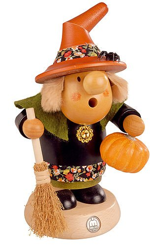 Mueller Halloween Pumpkin Witch Smoker Made in Germany