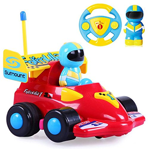 R/c Remote Radio Control (Cartoon R/C Formula Race Car Radio Control Toy by Liberty Imports (Assorted Colors))