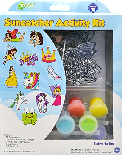 Kelly's Crafts Suncatcher Activity Kit - Fairy Tales. 12 Suncatchers