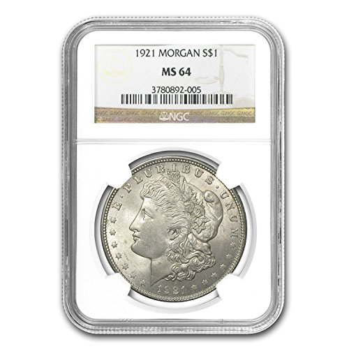 (1921 Morgan Dollar MS-64 NGC $1 MS-64 NGC)